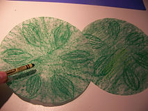 Kidfunideas.com color changing flower magic trick picture of making the leaves