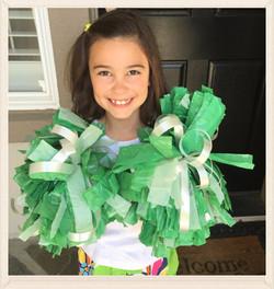 Cheer Leader Pom-Pom Craft!