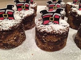 Kidfunideas.com Santa chimney treats example picture - what the cookies like with the Santa inserted in top