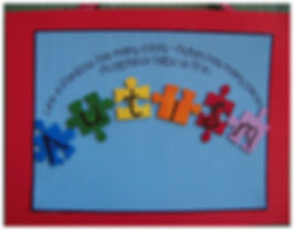 Kidfunideas.com Autism awareness puzzle piece craft