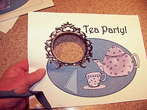 Kidfunideas.com Fancy tea party place mat picture of step one