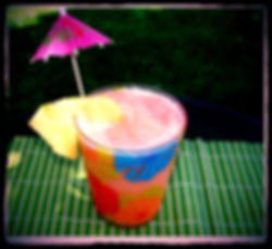 Kidfunideas.com Super tasty Mai-tai-riffic Slushy.  Tasty tropical and refreshing slushy.  Great as a summertime cool off for kids