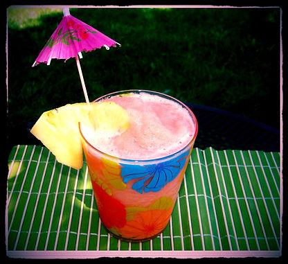 Kidfunideas.com Super tasty Mai-tai-riffic Slushy.  Tasty tropical and refreshing slushy.  Great as a summertime cool off for kids