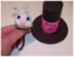 Kidfunideas.com Rabbit out of the hat Magic trick - picture of the hat and bunny