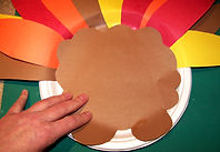 Kidfunideas.com Paper plate turkey Thanksgiving craft for kids