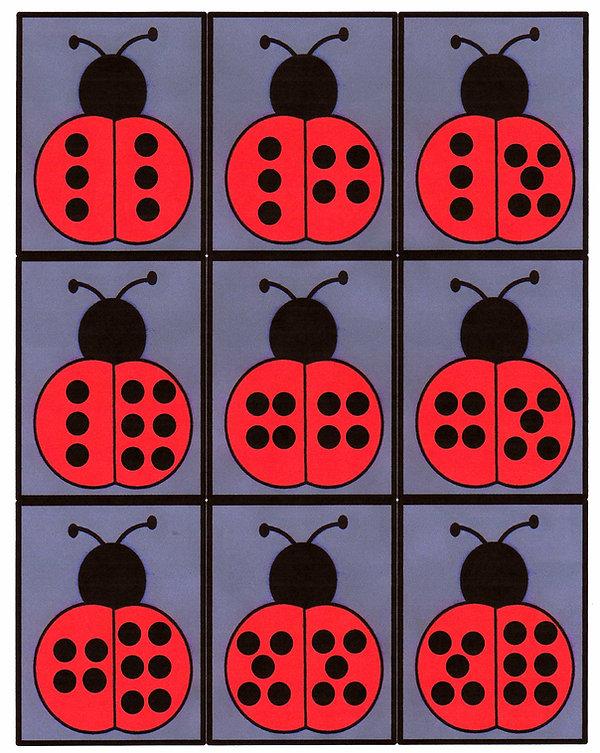 Kidfunideas.com Ladybug dominoes pattern
