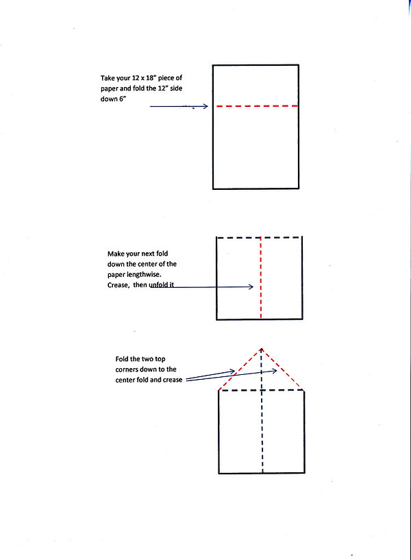Kidfunideas.com Valentine's Day paper airplane folding instructions page one