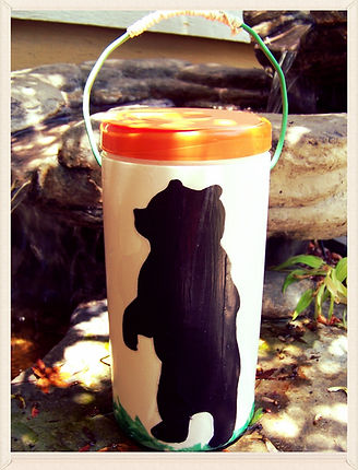 Kidfunideas.com Camping lantern craft for kids.  Make this easy camping lantern craft with your kids.  Perfect for a summer backyard sleepover or makes a fun nightlight.