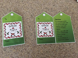 Kidfunideas.com hot coco mix label pictures. tags for your gift