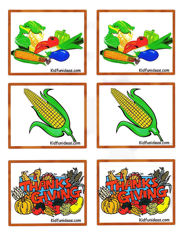 kidfunideas.com harvest match game