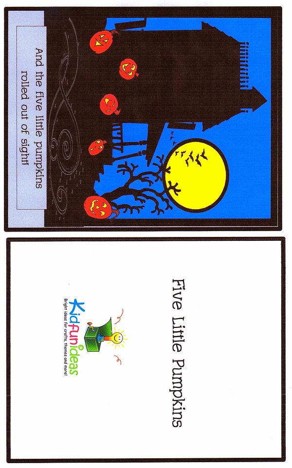 Kidfunideas.com five little pumpkins free book for kids