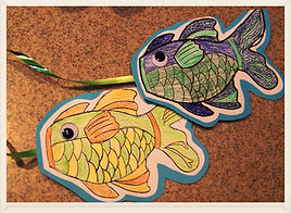 Kidfunideas.com easy to make fish windsock craft for kids