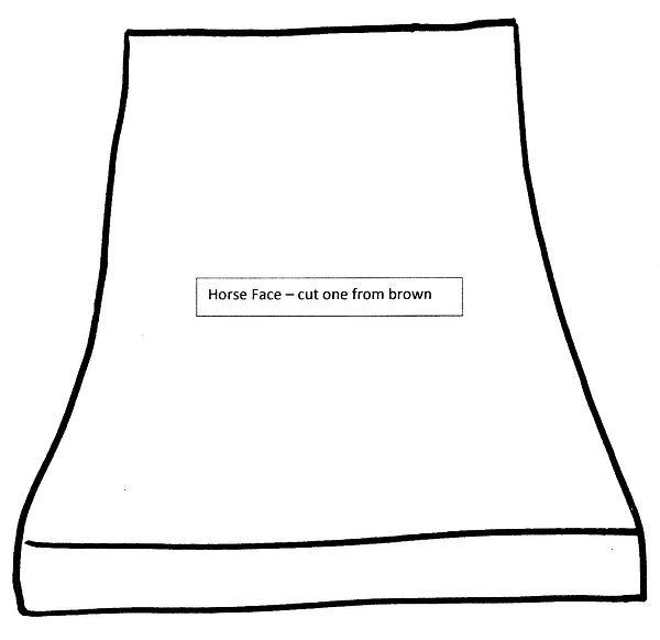 Kidfunideas.com horse paper bag puppet pattern