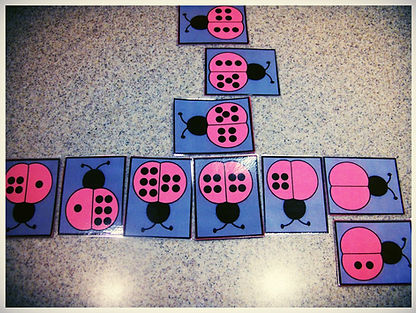 Kidfunideas.com ladybug dominoes game. Picture of the game