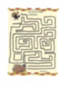 Kidfunideas.com Turkey maze activity for kids