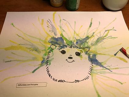 Porcupine painting Kidfunideas.com image.