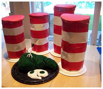 Kidfunideas. com Dr. Seuss Cat in the hat hat craft to celebrate Dr. Seuss