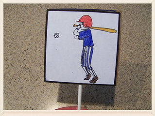 Kidfunideas.com magic swing baseball player craft for kids