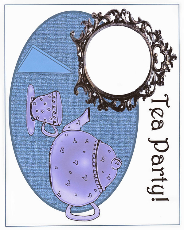 Kidfunideas.com Fancy tea party place mat pattern