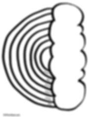 Kidfunideas.com tissue paper rainbow craft pattern