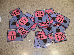 Kidfunideas.com ladybug dominoes. picture of the dominoes
