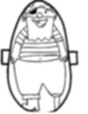 Kidfunideas.com scurvy crew pirate bowling pattern