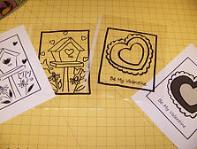Kidfundeas.com Valentines Stained glass picture of the traced pattern
