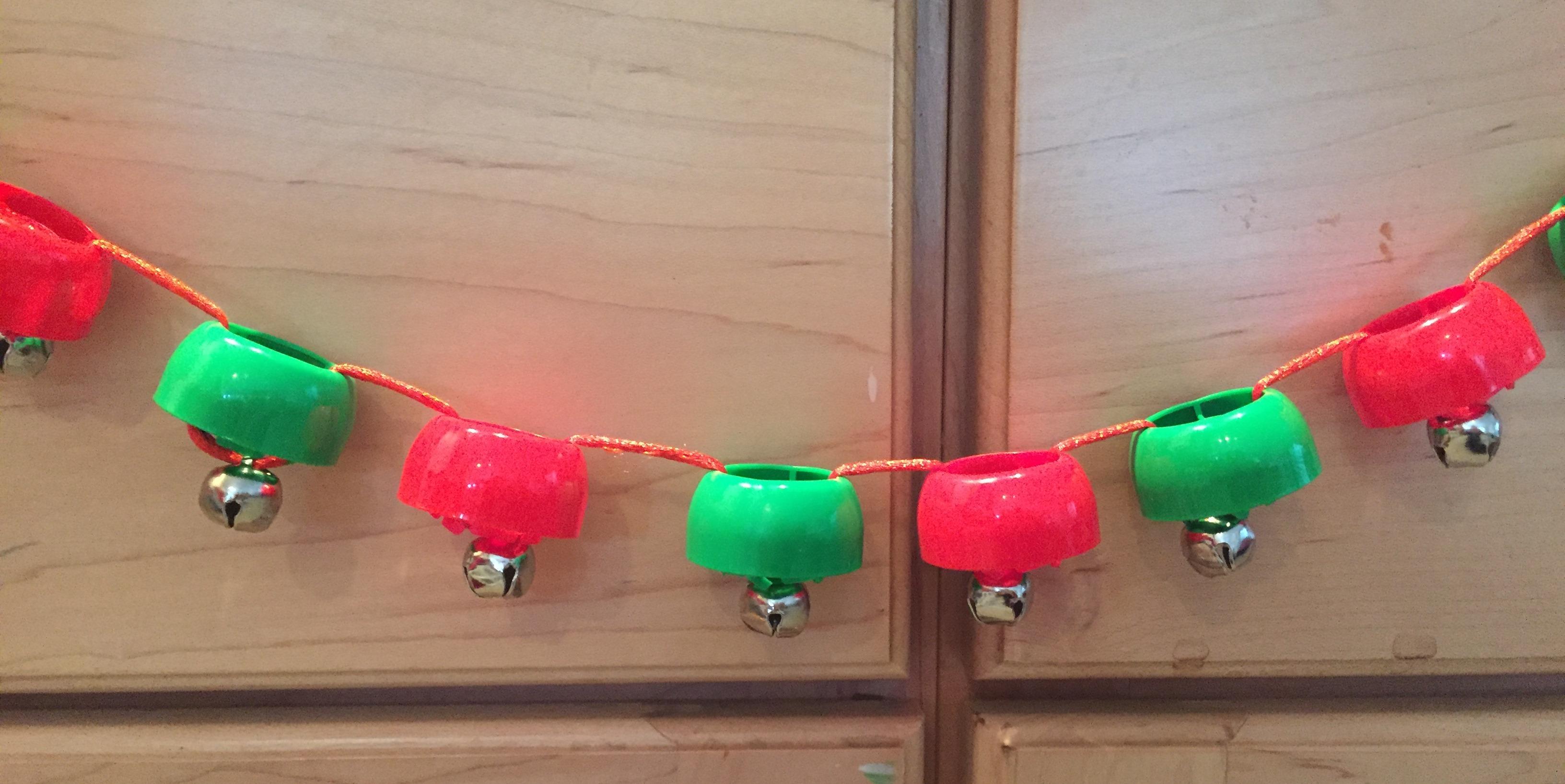 Jingle bell garland craft