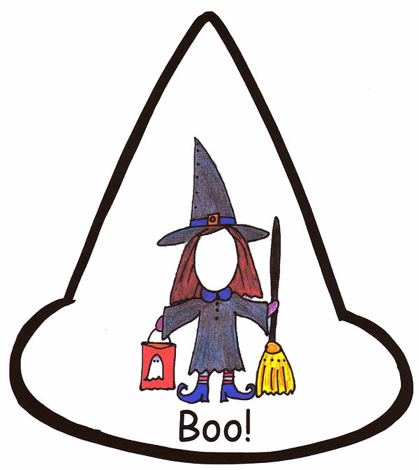 Kidfunideas.com mean old witch Halloween mini book for kids