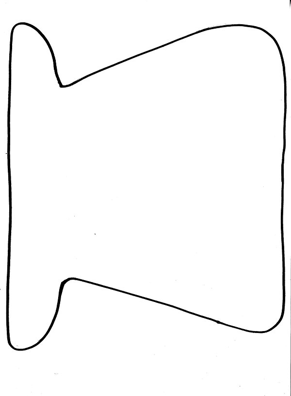 Kidfunideas.com paper plate snowman pattern piece for the snowman hat