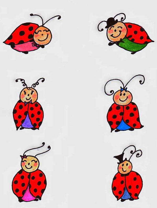 Kidfunideas.com ladybug picnic craft / color pattern sheet for ladybugs