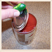 Kidfunideas.com tip: remove can lids easily with a magnet