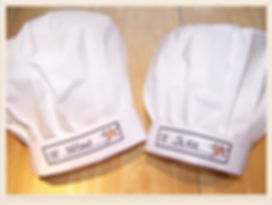 Kidfunideas.com Little Chef hat craft.  How fun to make these cute little chef hats with your kids. Perfect addition whern cooking with kids or as part of a Halloween costume