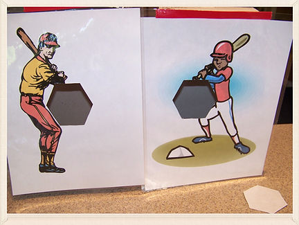 Kidfunideas.com Super fun Baseball catapult game.  What a fun baseball game and craft for kids.  Be the pitcher and see how many strikes you can get with this fun kids craft and game