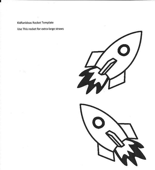 kidfunideas.com paper rocket template