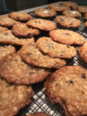 Kidfunideas.com Chewy Nom Nom Cookies.  A yummy mashup of s'mores, crispy rice treats and chewy oatmeal cookies!
