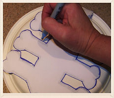Kidfunideas.com Paper plate skeleton craft for kids