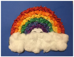 Tissue Paper Rainbow Craft