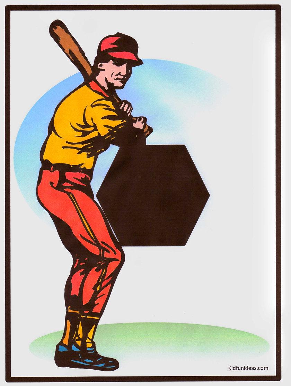 Kidfunideas.com Strike him out baseball craft pattern
