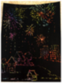 Kidfunideas.com New Year's  & 4th of July Fireworks craft picture