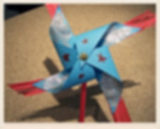 Kidfunideas.com 4th of July Sparkler Pinwheel craft for kids.  Easy 4th of July craft for kids