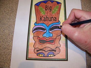 Kidfunideas Big Kahuna Coin Catcher picture of coloring in the pattern
