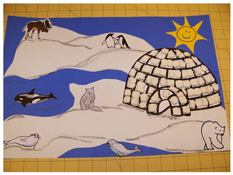 Kidfunideas.com Arctic animals and igloo picture final example
