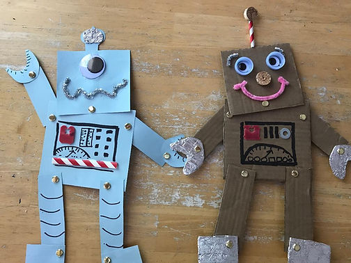 Kidfunideas.com Let's make a Robot Space Craft for kids