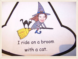 Kidfunideas.com Mean old witch free Halloween mini book for kids