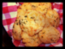 Kidfunideas.com Cheesy Cowboy Cornbread.  These tasty biscuits are just delicious and a perfect side dish to chilli or your favorite bowl of soup or salad.