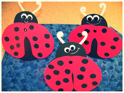 Kidfunideas.com My Little Ladybug craft project - picture of completed ladybug