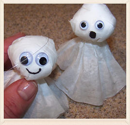 Kidfunideas.com easy coffee filter ghost for kids