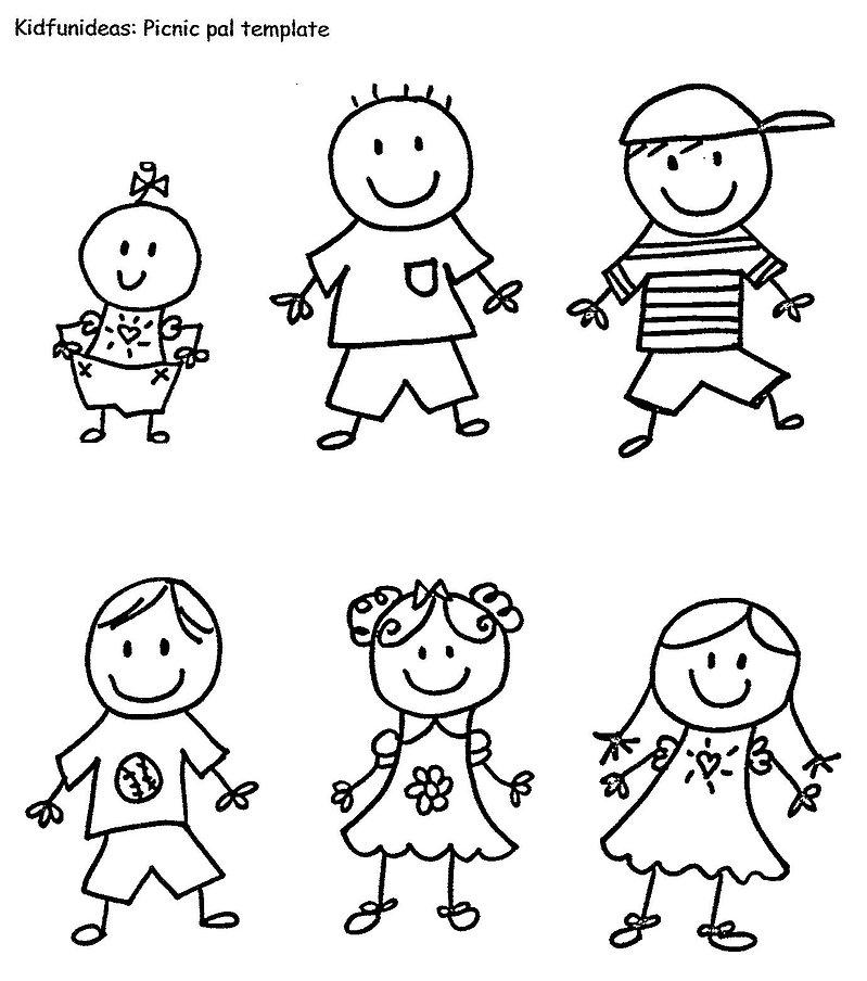 Kidfunideas.com picnic pals template