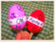 Kidfunideas.com Cinco de Mayo Maraca craft for kids.  Join the fiesta and make this easy kid's craft using leftover plastic Easter eggs